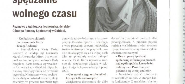 """Rozmowa na temat Gołdapskiej Karty Dużej Rodziny w """"Problemach społecznych"""""""