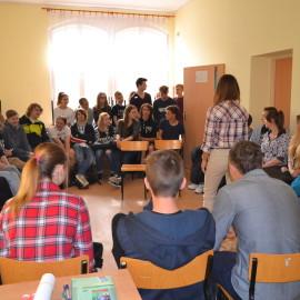 Warsztaty profilaktyczne w Gimnazjum