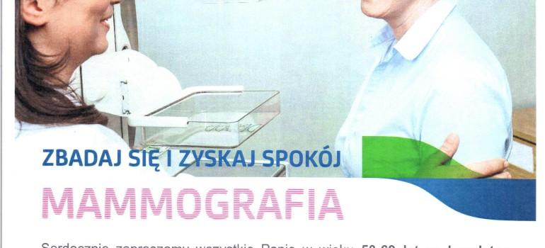Zapraszamy na bezpłatne badania mammograficzne!