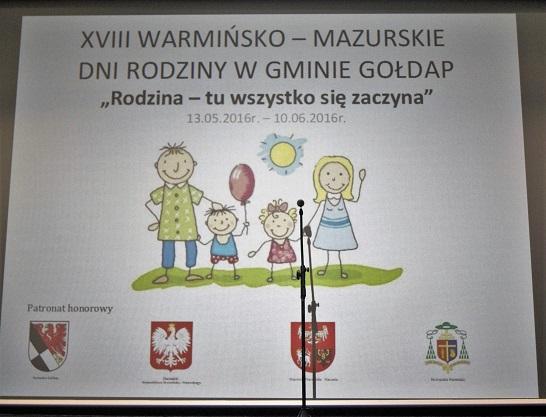 Uroczysta konferencja podsumowująca XVIII Warmińsko-Mazurskie Dni Rodziny w Gminie Gołdap