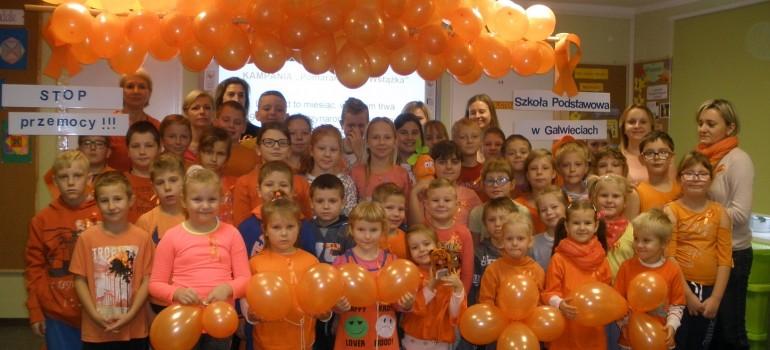 Kampania Pomarańczowej Wstążeczki SP Galwiecie